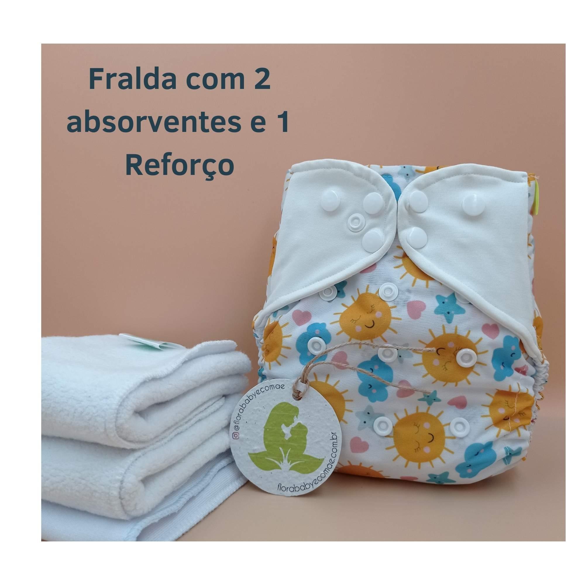 Kit Especial 1 Fralda com 2 absorventes e 1 Reforço