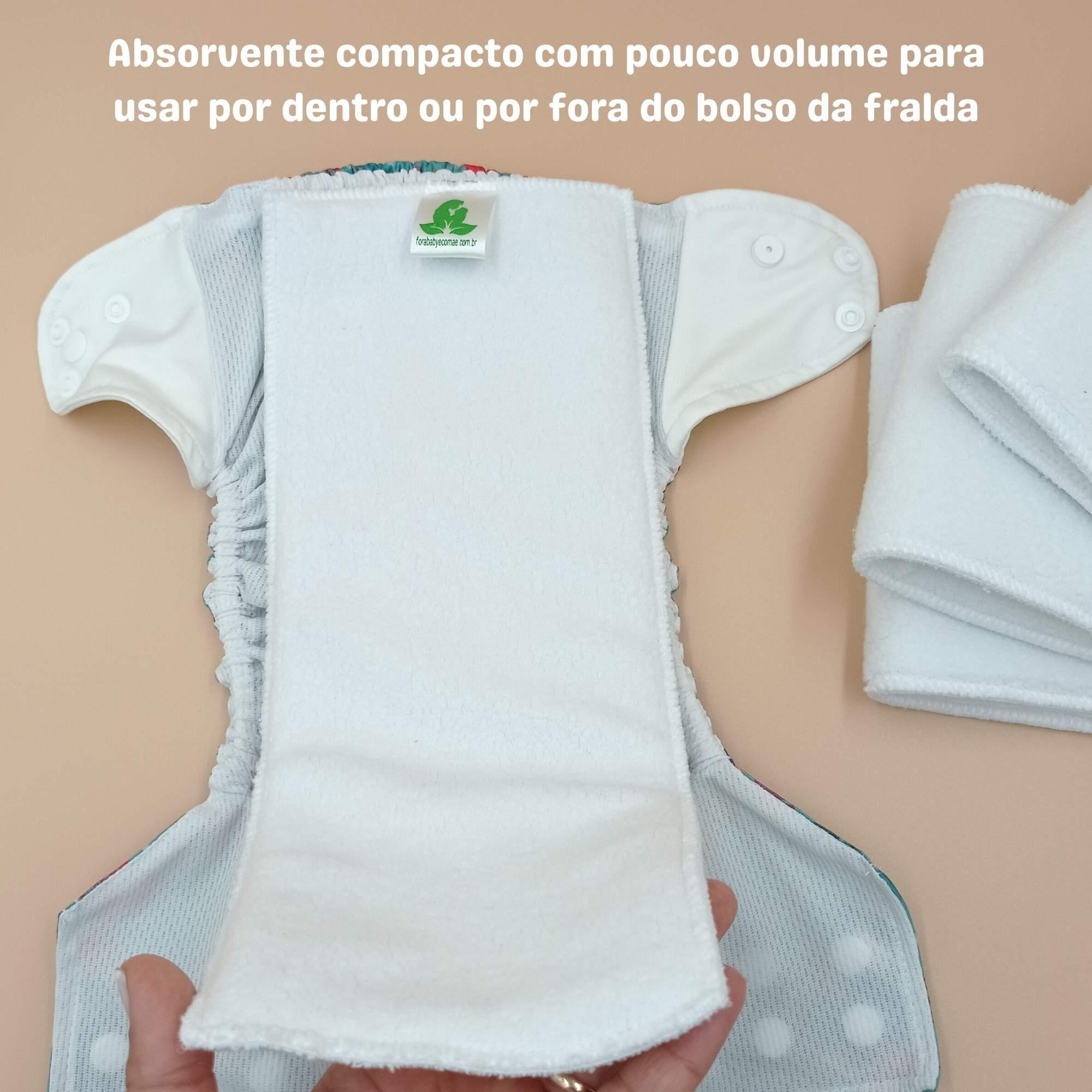 Absorventes Faixa 4 camadas em Meltom para Fralda Ecológica