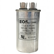 Capacitor para Ar Condicionado Split Simples 12 uF 380v . EOS