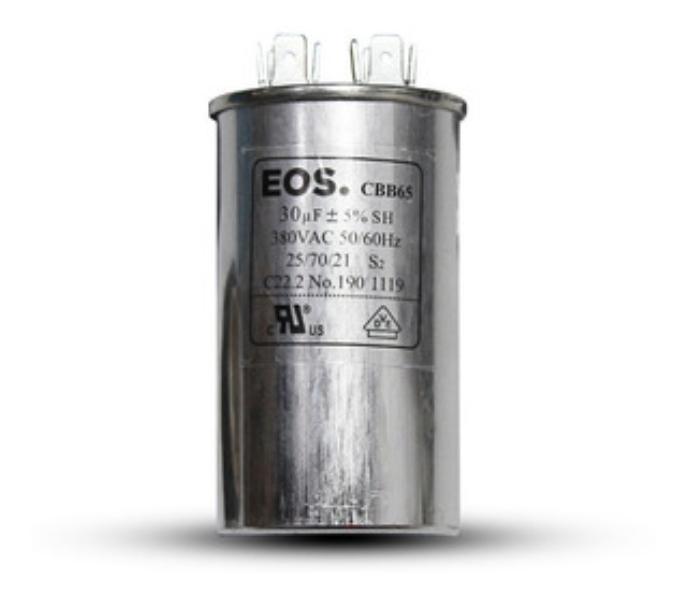 Capacitor para Ar Condicionado Split Simples 30 uF 380v . EOS