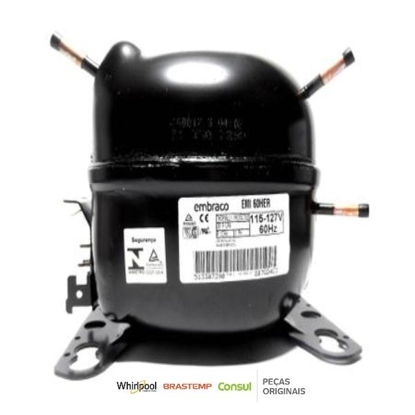Compressor 1/6 R134 Embraco EMI60HER 127V - W10393808