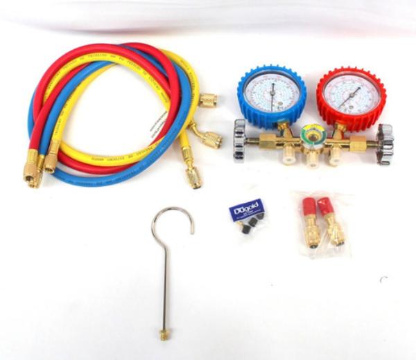 Conjunto Manifold C/Maleta R22/134/404/407 C/Visor E Jg Mang 0,90m DG536-GP Dugold