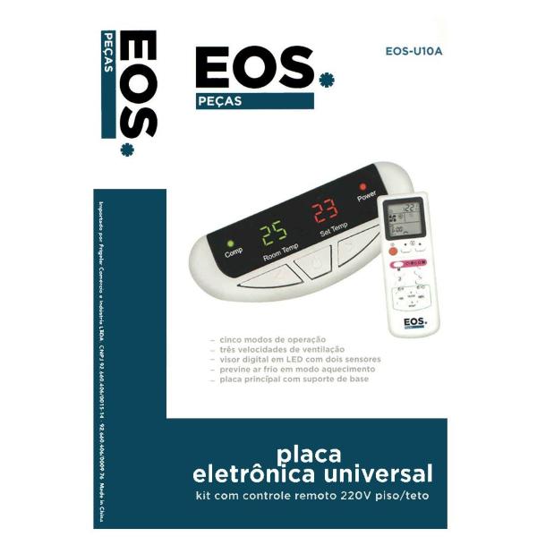 Kit de Placa Universal com Controle Remoto para Ar Piso Teto 220v - Eos-u10a