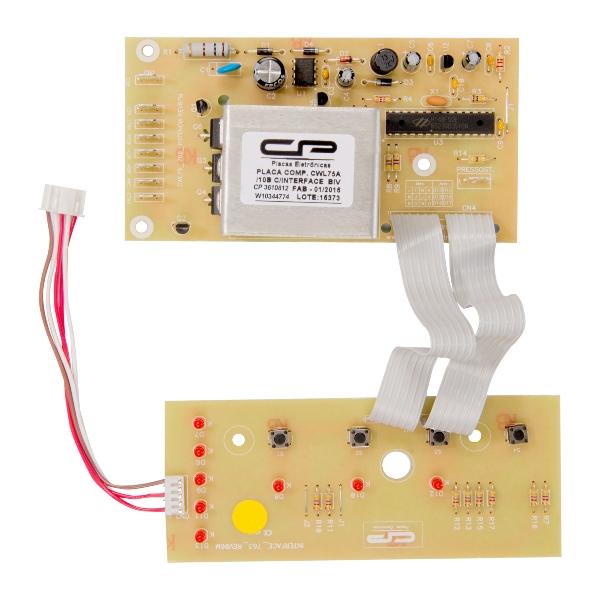 Kit Placa Potência e Interface Compatível com Lavadora Consul  W10315110   W10344774 - CP0812