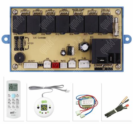 Kit Placa Universal Split  K7 Com Controle remoto - 220V (RELE DA BOMBA) Gunda-QDU30A