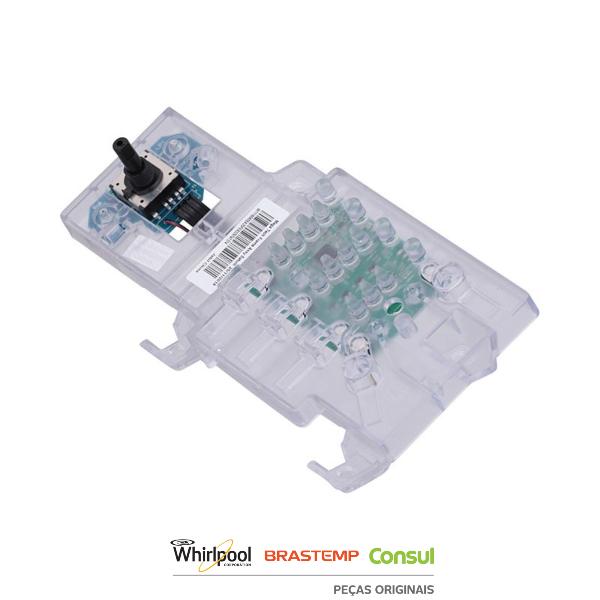 Placa de Interface Tech Frame para Máquina de Lavar Bivolt Original - W11160655