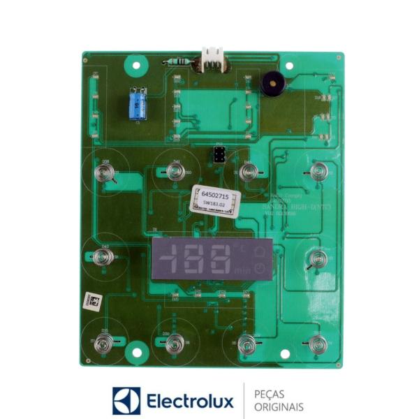 Placa Interface Display  para Refrigerador Electrolux Bivolt Original - 64502715