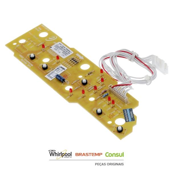 Placa Interface  Lavadora Brastemp Chicote curto Original -  W10605804
