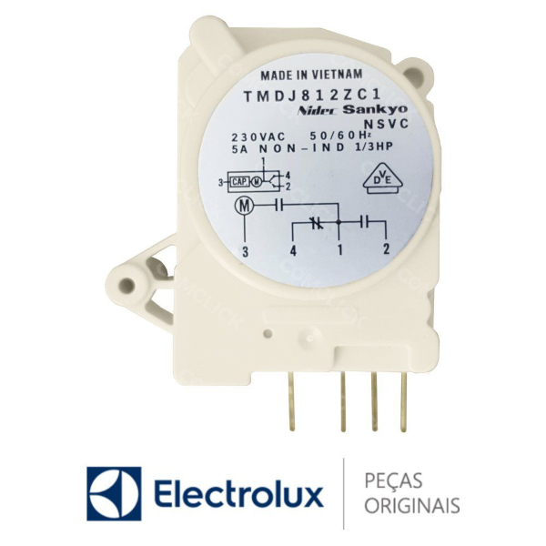 Timer Degelo Electrolux  220v - 64484483