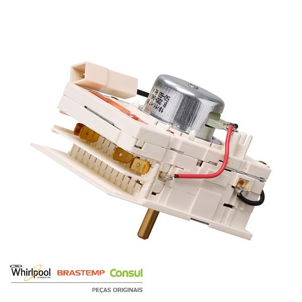 Timer Eletromecânico 220V para Secadora Brastemp Original - W11102440