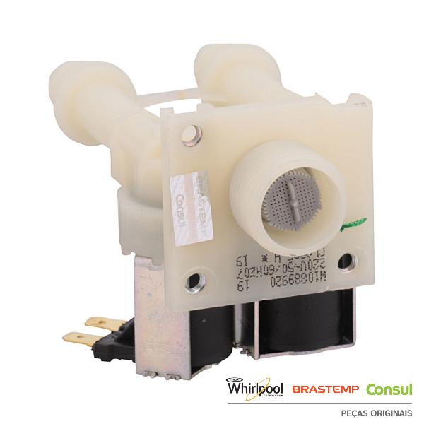 Válvula de Entrada de Alta Vazão 220V para Máquina de lavar Consul - W11104453