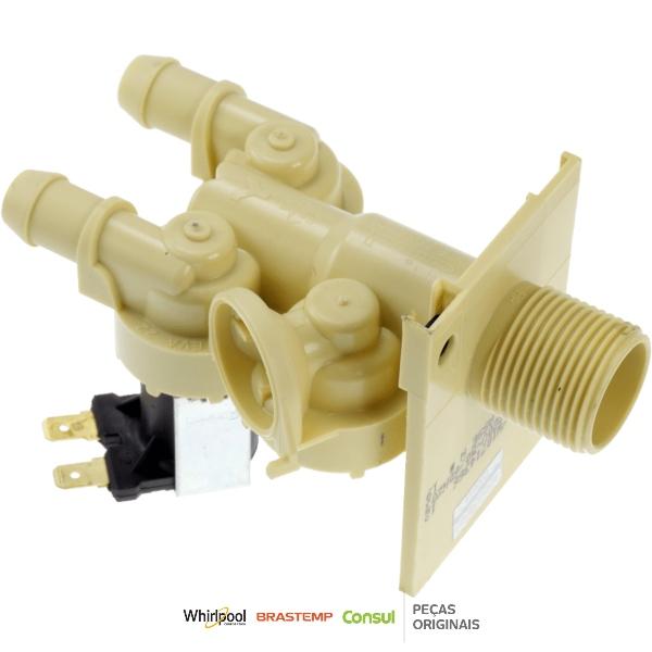 Válvula Dupla Lavadora Brastemp 220V Original - W10714366