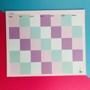 Calendário Mensal Azul e Lilás - GIRL POWER