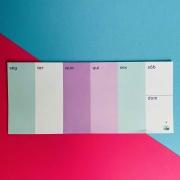 Calendário Semanal Azul e Lilás - GIRL POWER