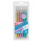Caneta Megahidro Pastel com Glitter c/6 Cores - Tris