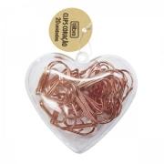 Clips de Coração Ouro Rose - Tilibra