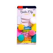 Clips para papel Binder Pompom c/4 unid. - BRW