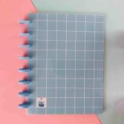 Coleção Geométrica AZUL PASTEL- Caderno de Discos (A4)