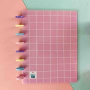 Coleção Geométrica ROSA PASTEL - Caderno de Discos