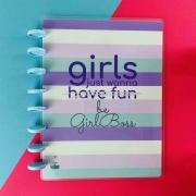 Coleção Girl Power HAVE FUN  - Caderno de Discos (A4)