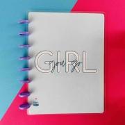Coleção Girl Power YOU GO Azul  - Caderno de Discos (A4)
