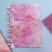 Coleção Tie Dye ROSADO - Caderno de Discos (A5)