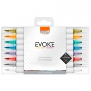 Dual Brush Pen Metalizada EVOKE - BRW