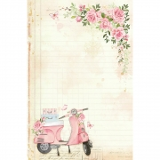 Papel de carta Mon Monde Rose - Litoarte