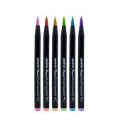 Pincel Brush Pen Patel c/6 cores - Newpen