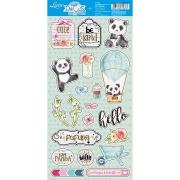 Recortes em papel Panda - Litoarte