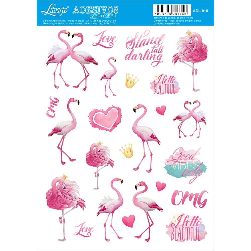 Adesivo Flamingos - Litoarte