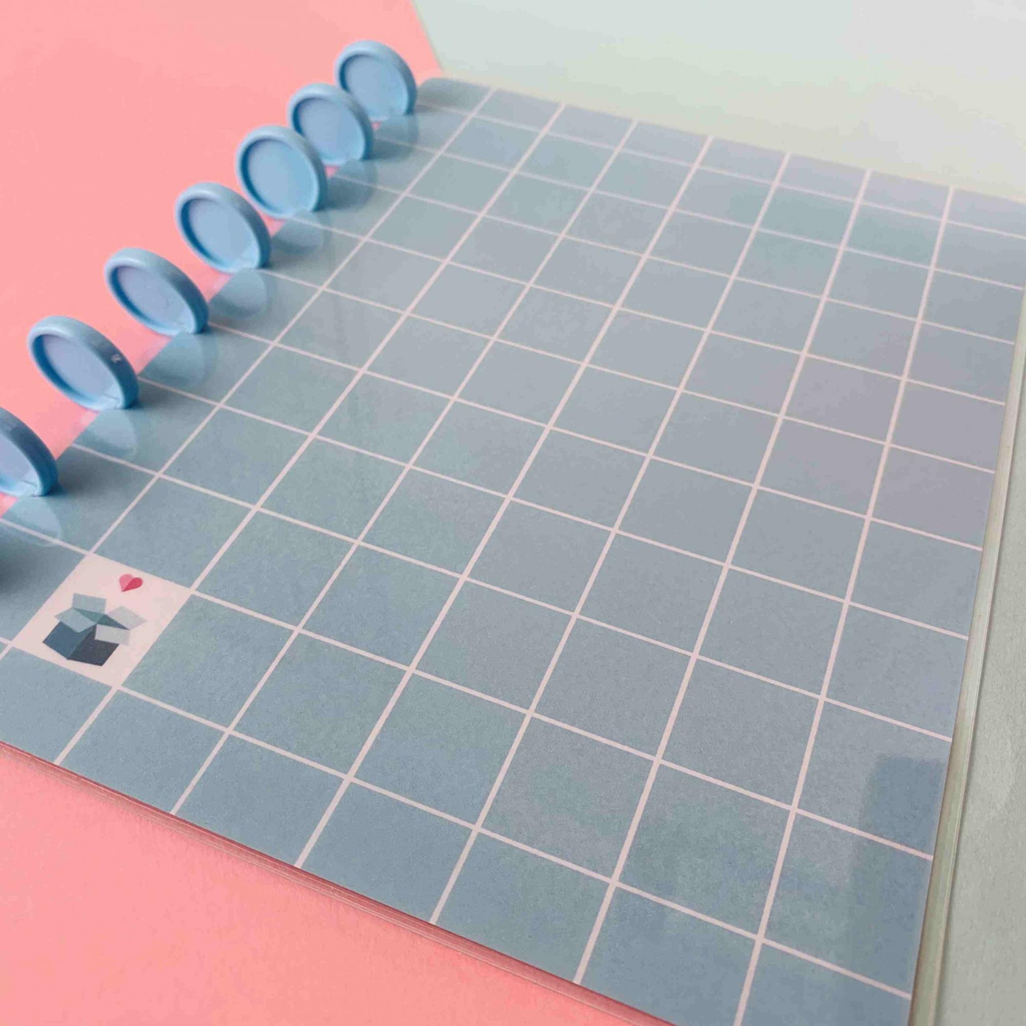CAPAS Geométrica Azul Pastel