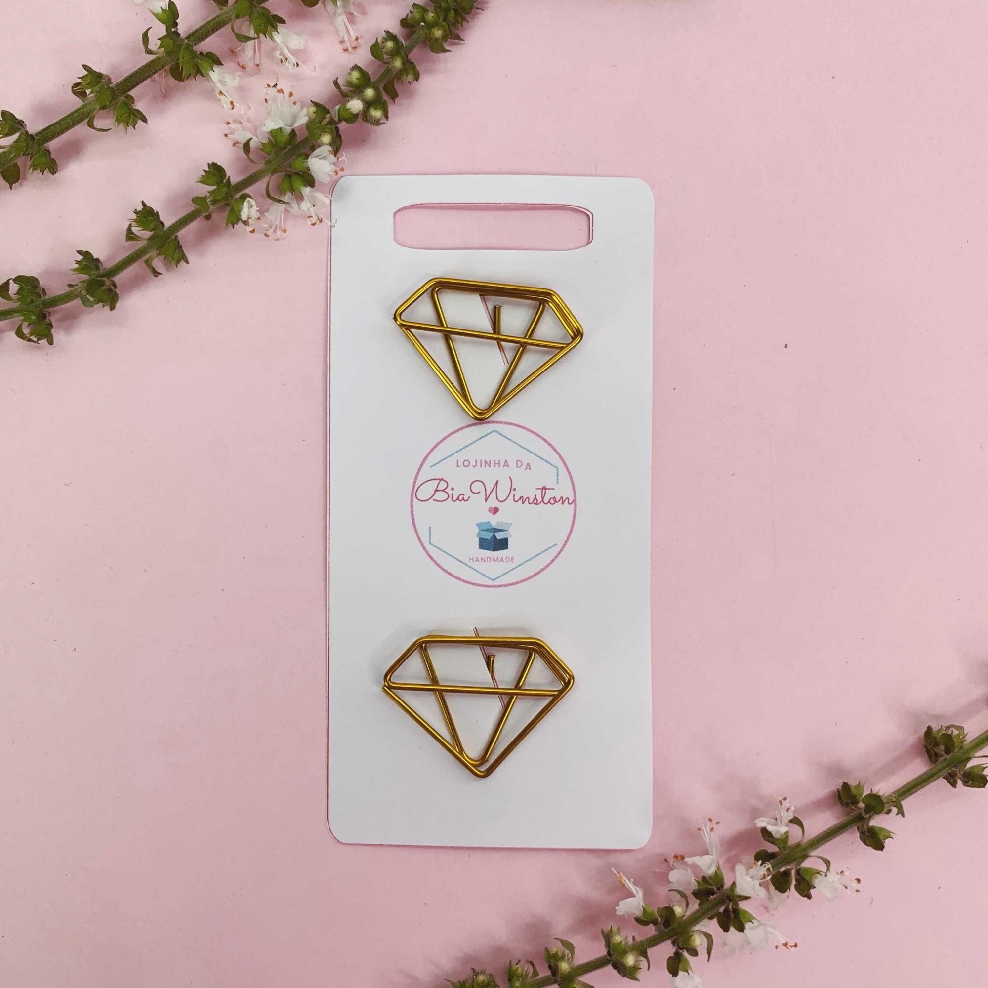 Clips Diamante Dourado