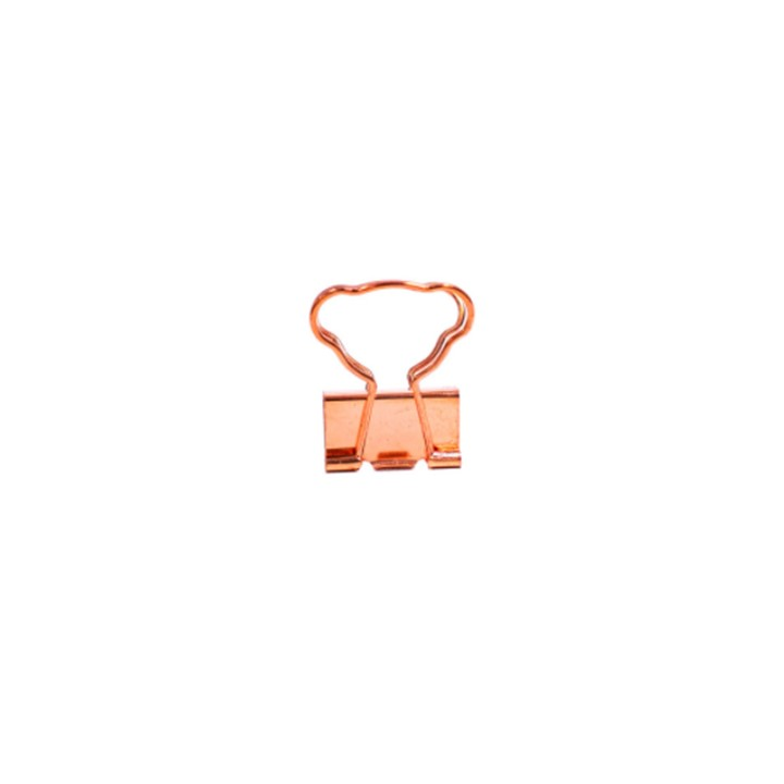 Clips para papel Binder Rose Gold c/6 unid. - BRW