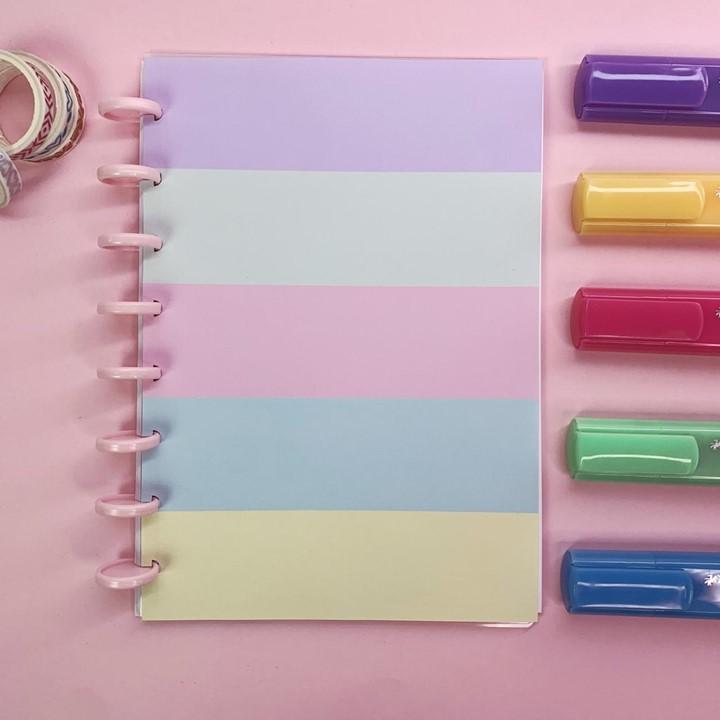Coleção Candy Color CORAÇÃO - Caderno de Discos (A5)