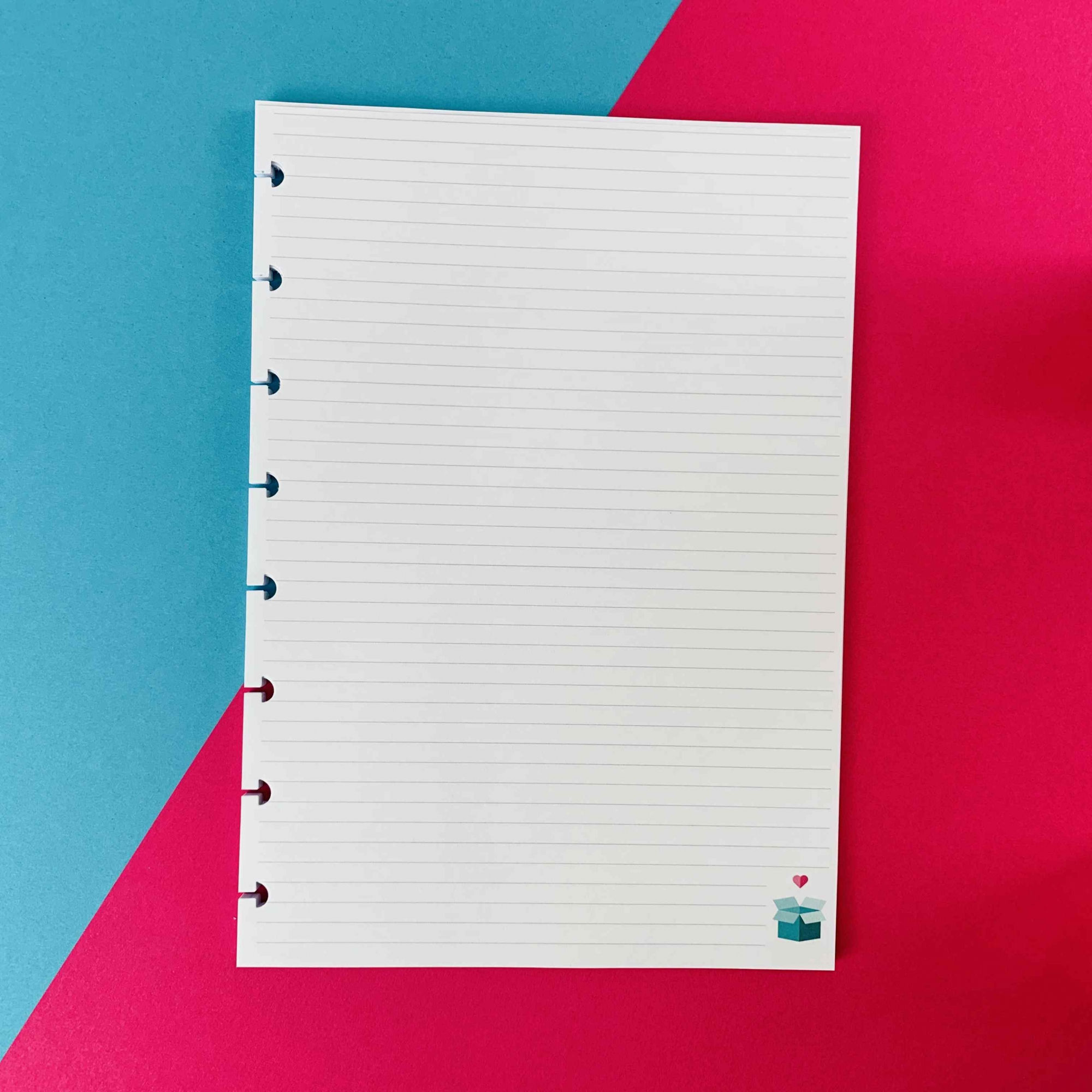 Coleção Candy Color CORAÇÃO - Caderno de Discos (A4)