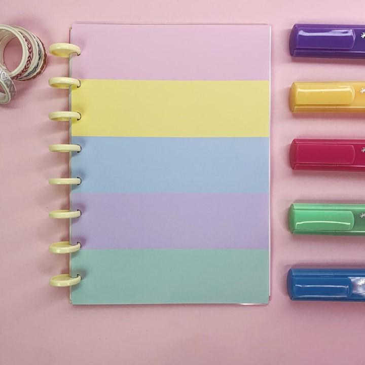 Coleção Candy Color DONUTS - Caderno de Discos (A5)