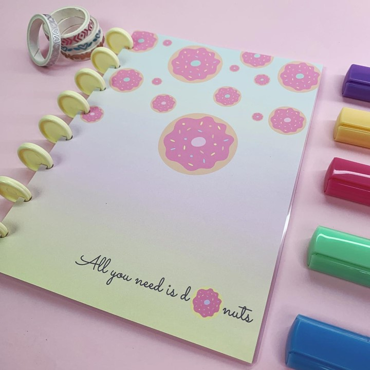 Coleção Candy Color DONUTS - Caderno de Discos (A4)