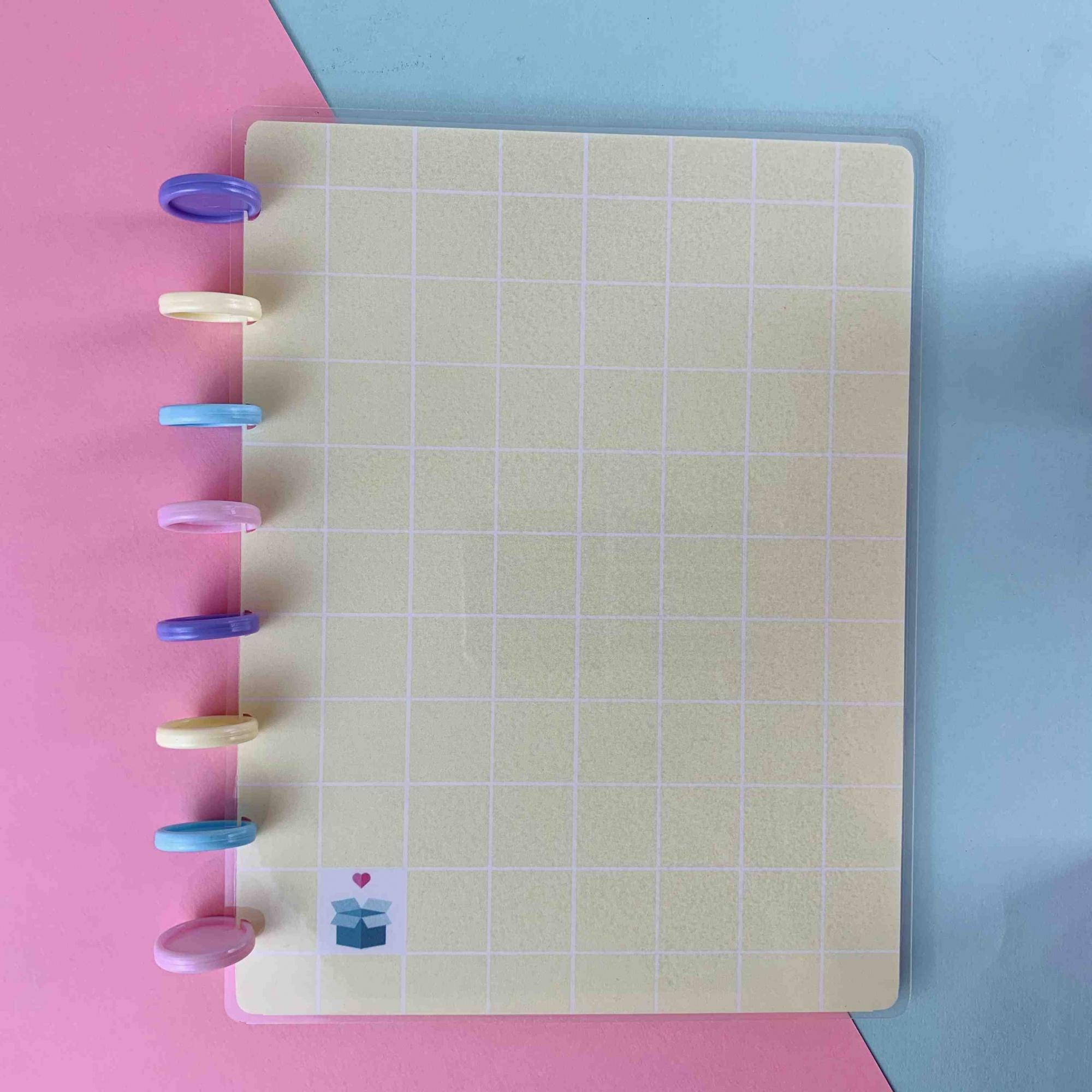 Coleção Geométrica AMARELO PASTEL - Caderno de Discos