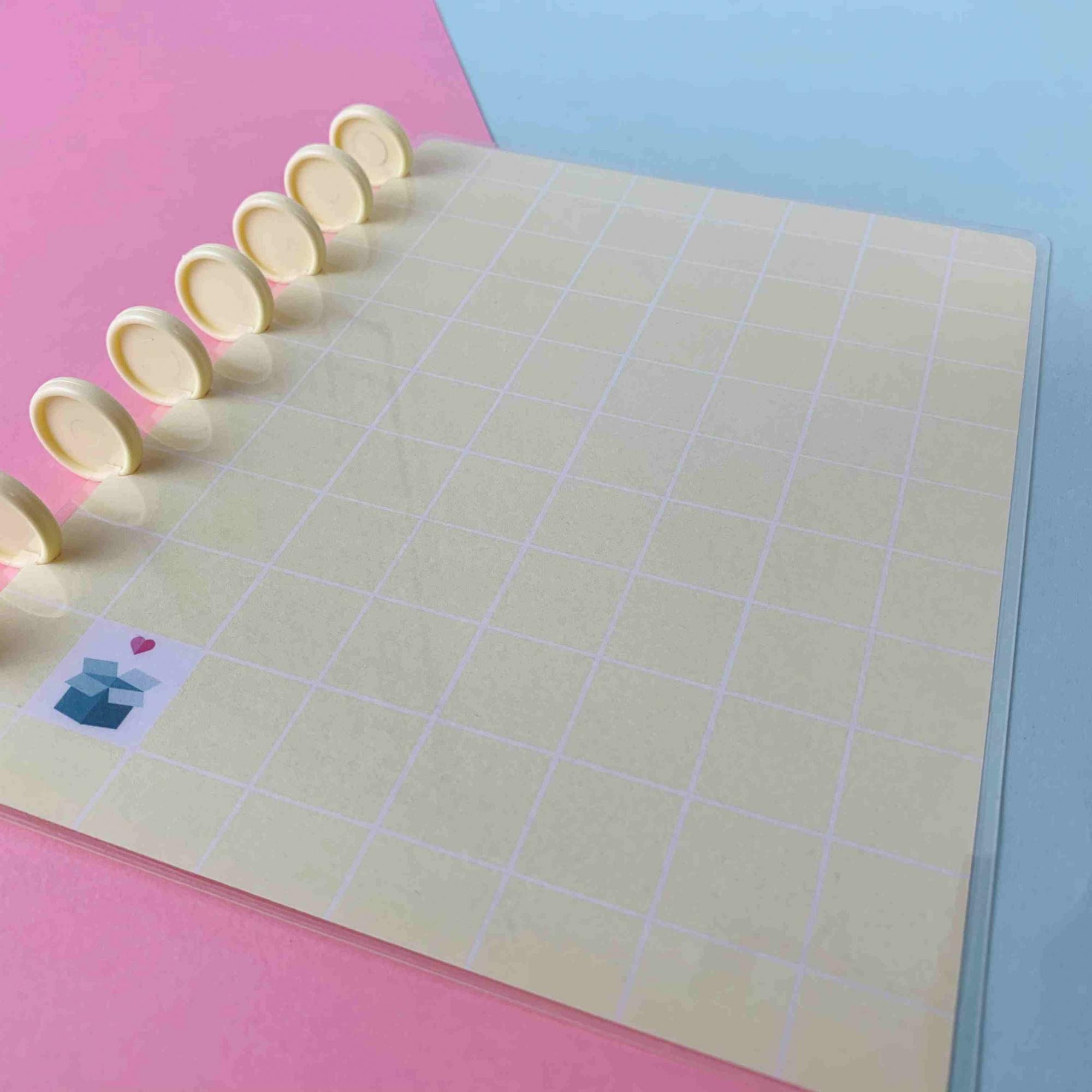 Coleção Geométrica AMARELO PASTEL - Caderno de Discos (A5)