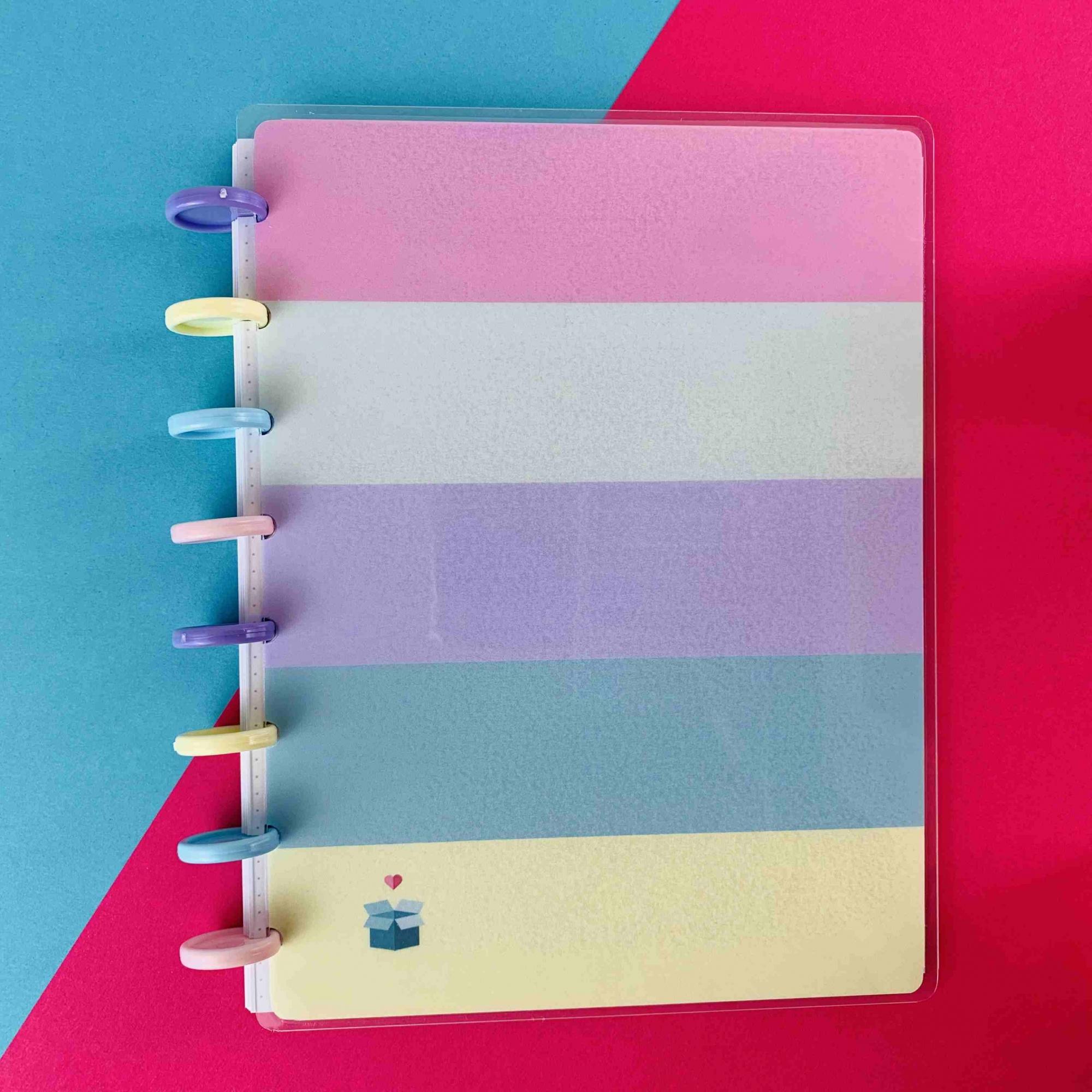 Coleção Geométrica AMARELO PASTEL - Caderno de Discos (A4)