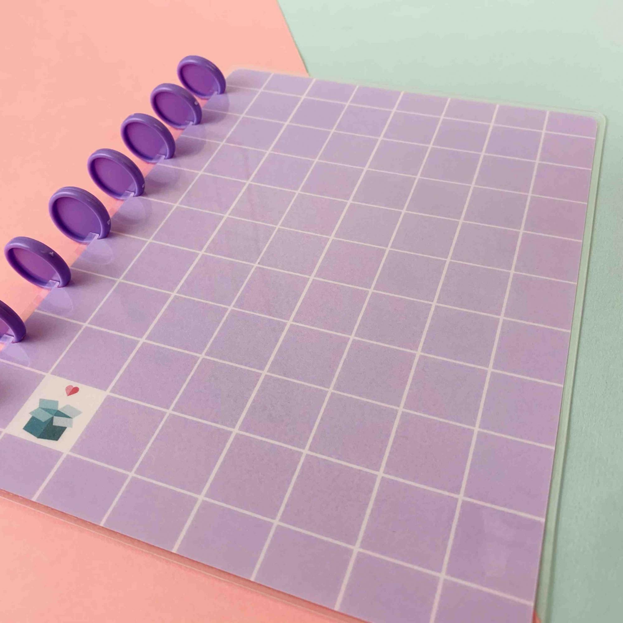 Coleção Geométrica LILÁS - Caderno de Discos