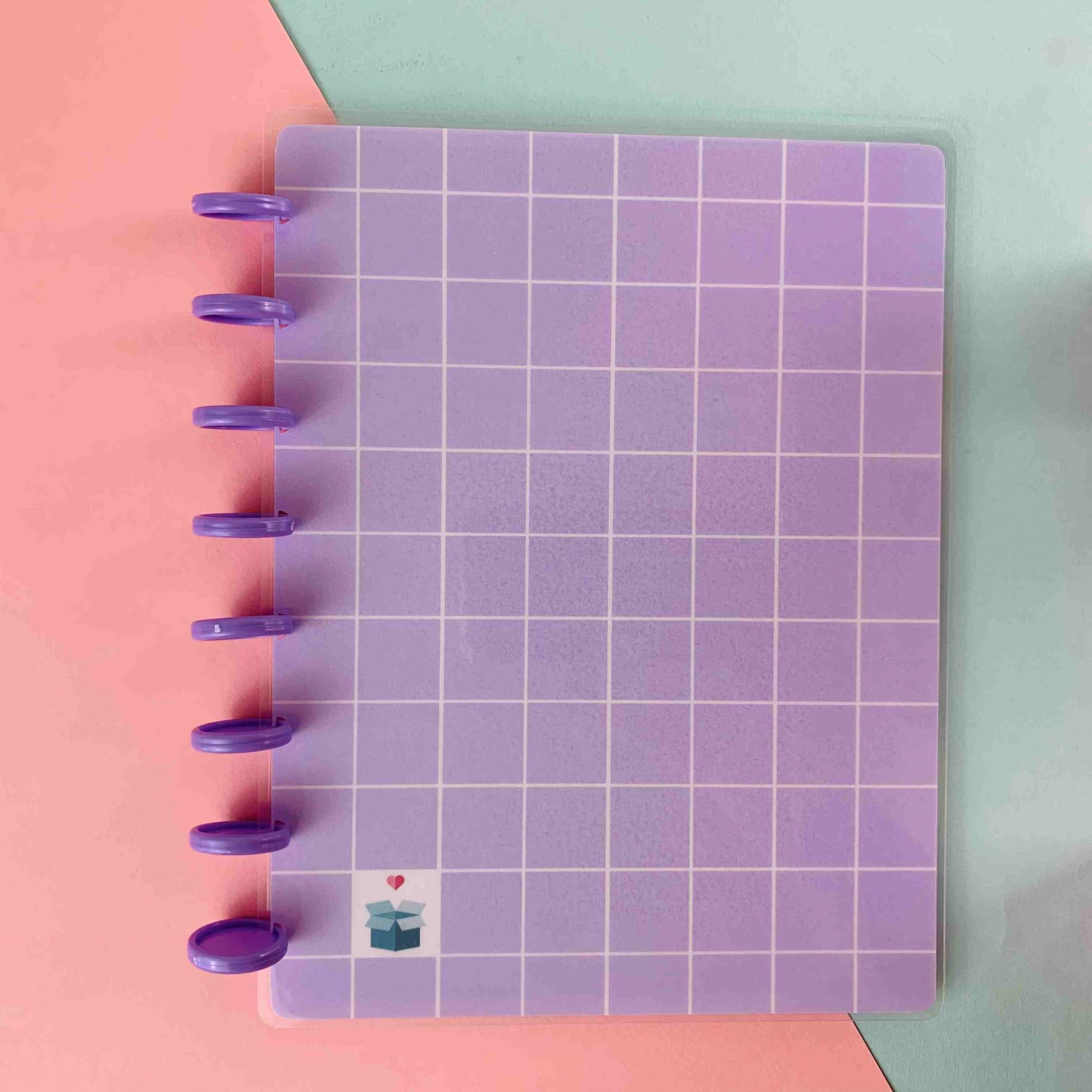 Coleção Geométrica LILÁS - Caderno de Discos (A4)