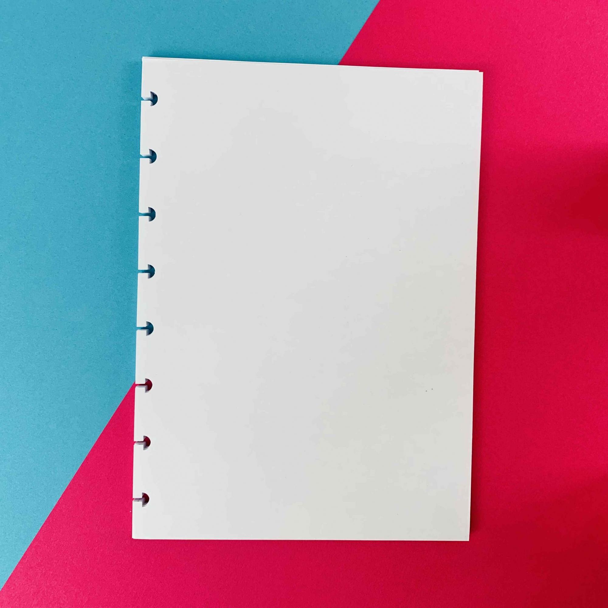 Coleção Geométrica ROSA PASTEL - Caderno de Discos (A5)