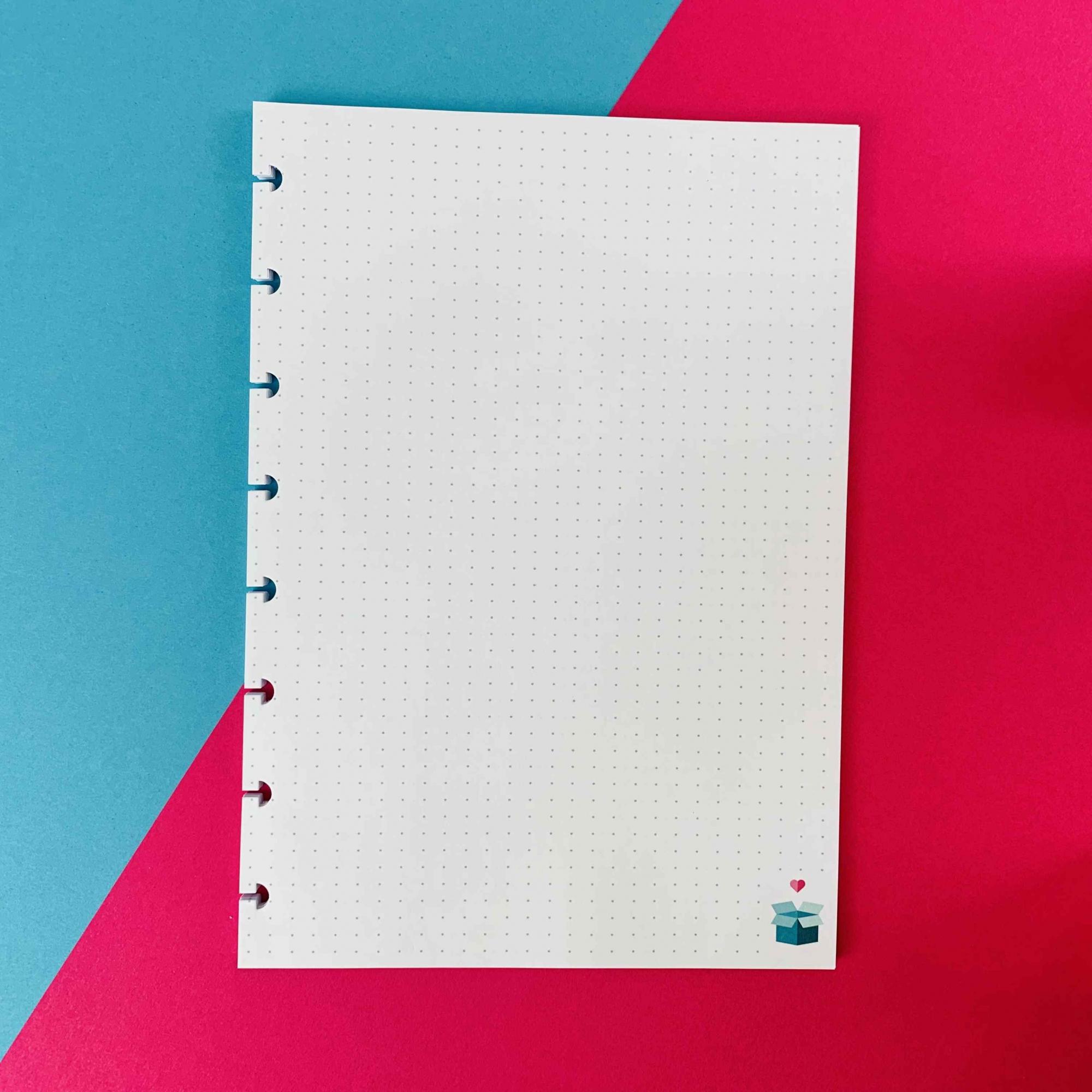 Coleção Geométrica ROSA PASTEL - Caderno de Discos (A4)