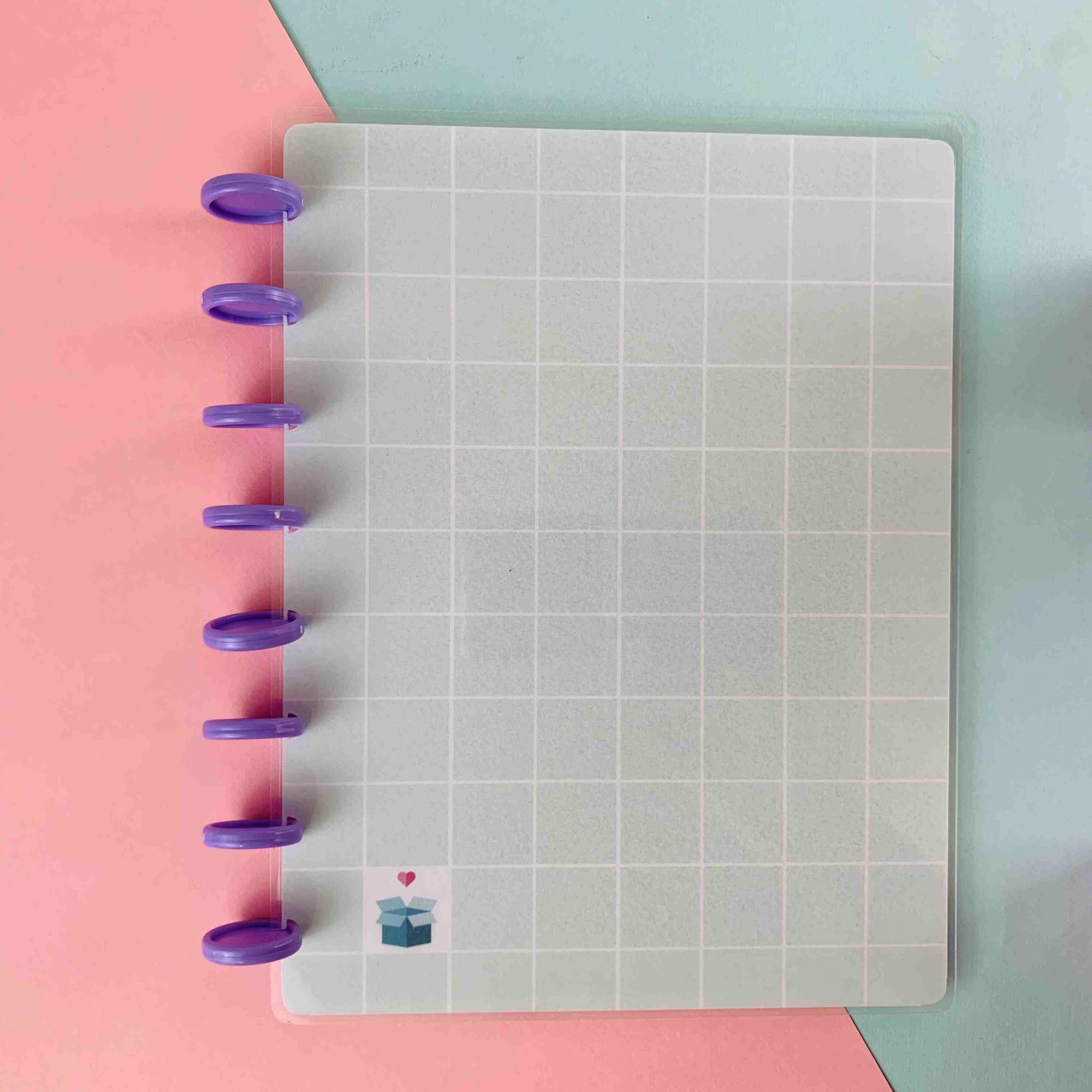 Coleção Geométrica VERDE MENTA - Caderno de Discos (A5)