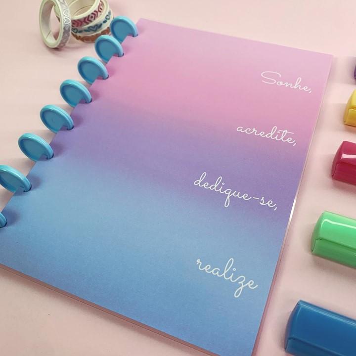Coleção Iza @Izabella.Studies - Caderno de Discos (A4)