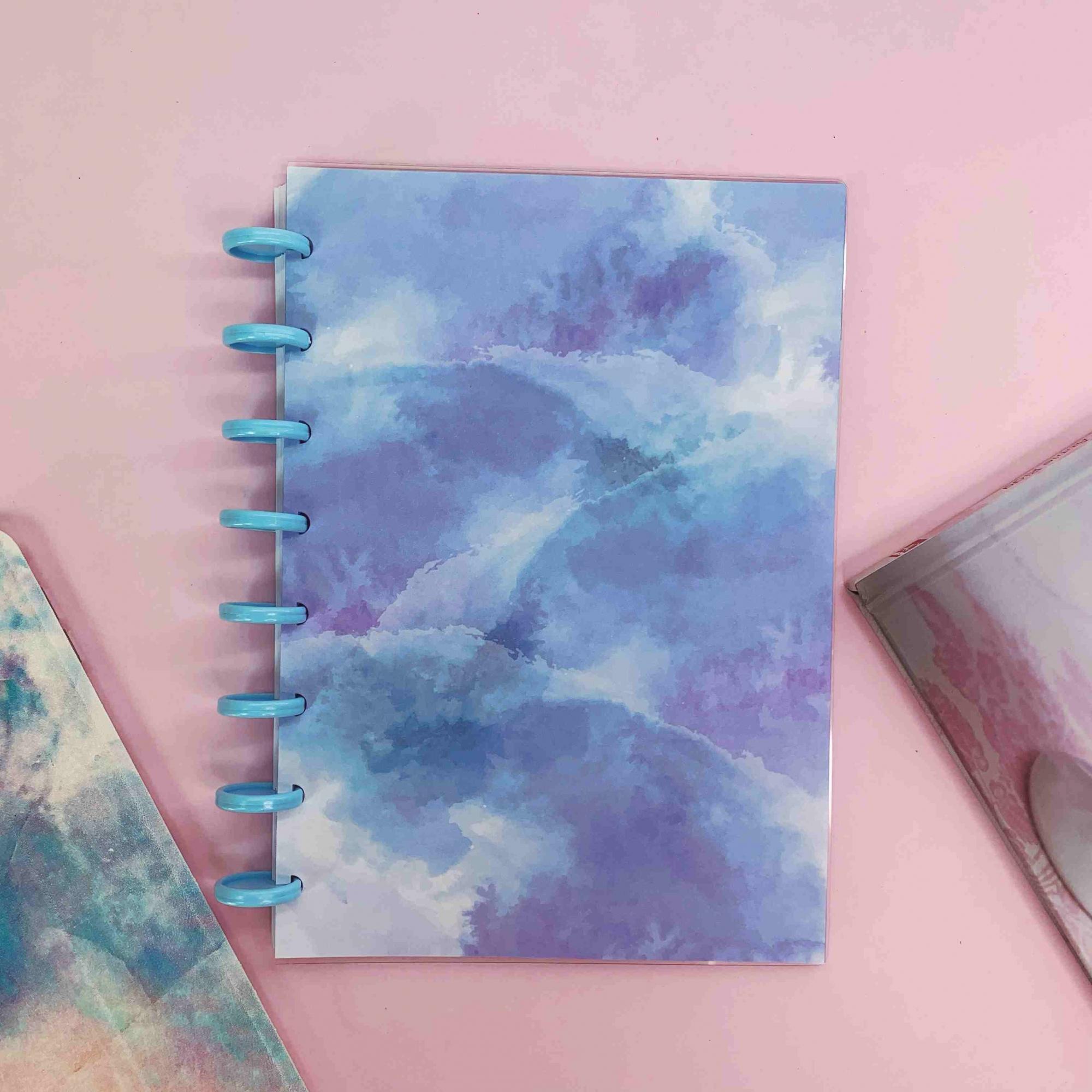 Coleção Tie Dye AZULADO - Caderno de Discos (A5)