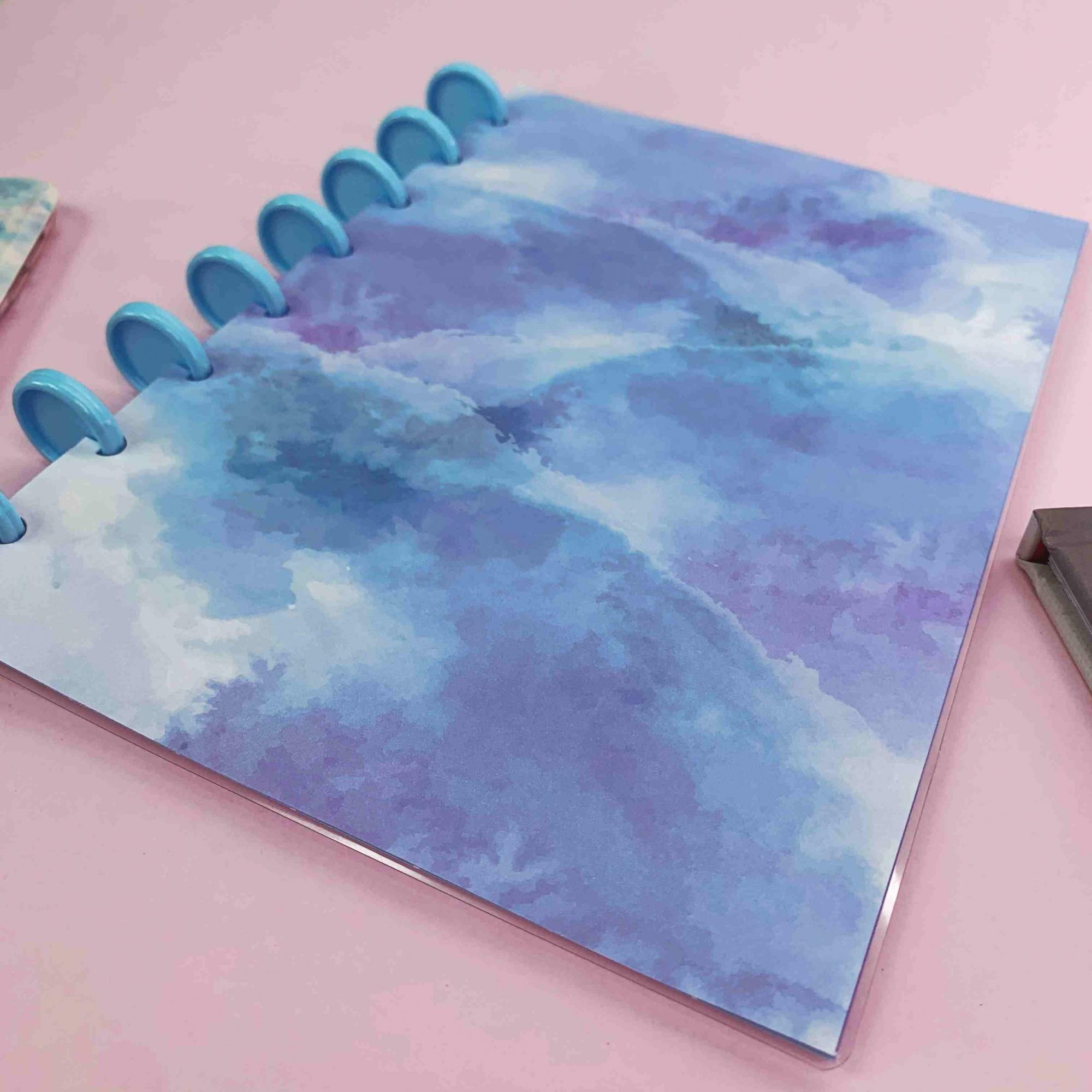 Coleção Tie Dye AZULADO - Caderno de Discos (A4)