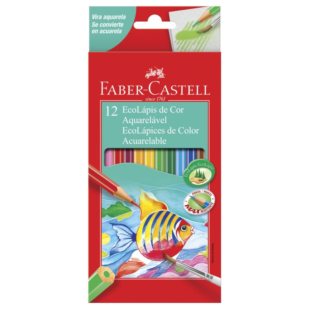 Ecolápis de Cor Aquarelável 12 Cores - Faber Castell